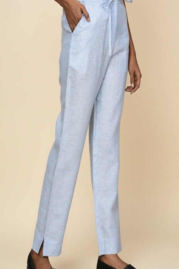 Lucid Drawstring Light Blue Pants-Yellwithus.com