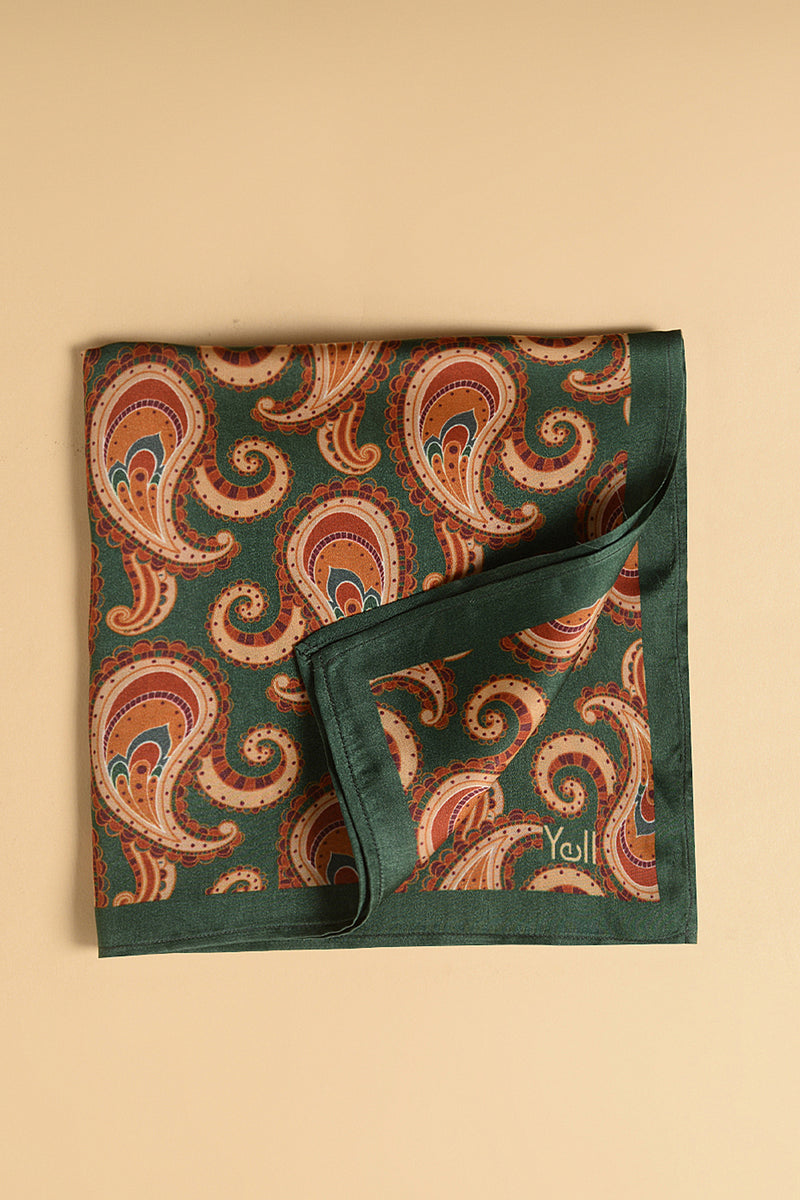 The Percy Paisley Pocket Square-Yellwithus.com
