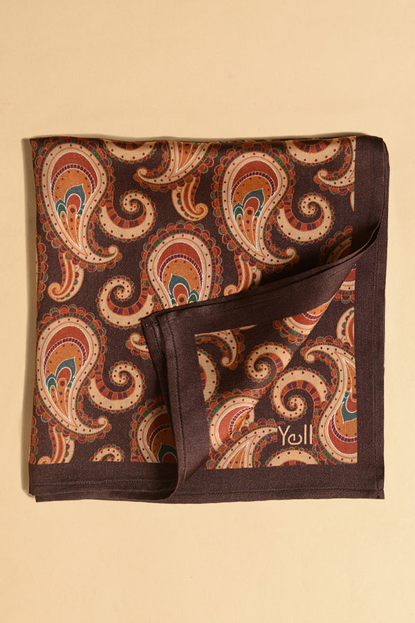 The Paavo Paisley Pocket Square-Yellwithus.com