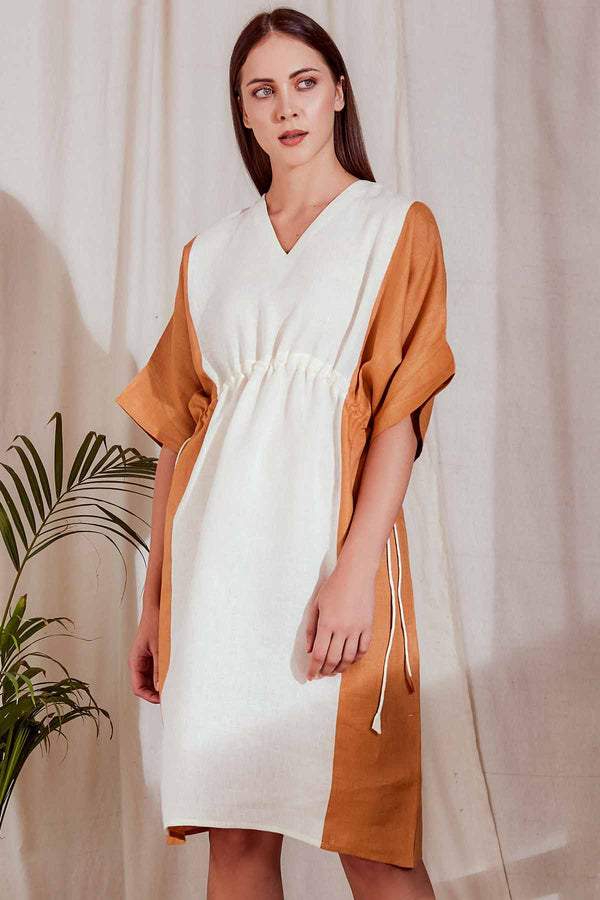 Tierra Beige Kaftan Dress - Yellwithus.com