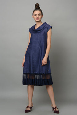 Moonstone Cowl Dress-Yellwithus.com