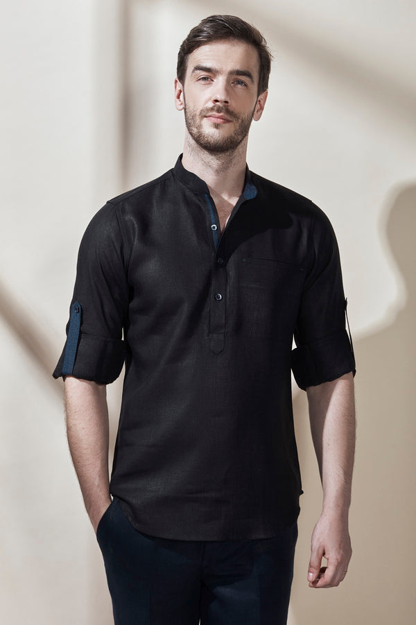 Shiny Short Kurta-Yellwithus.com