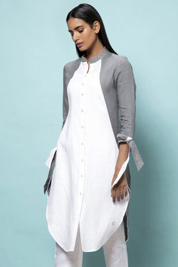 LINEN With Lace Detailing-Yellwithus.com