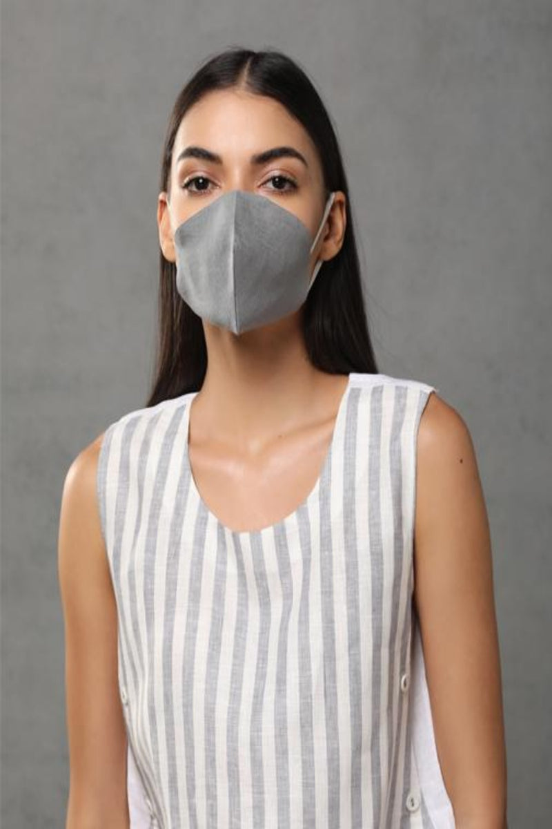 Linen Mask 1 Pack of 3 assorted masks-Yellwithus.com