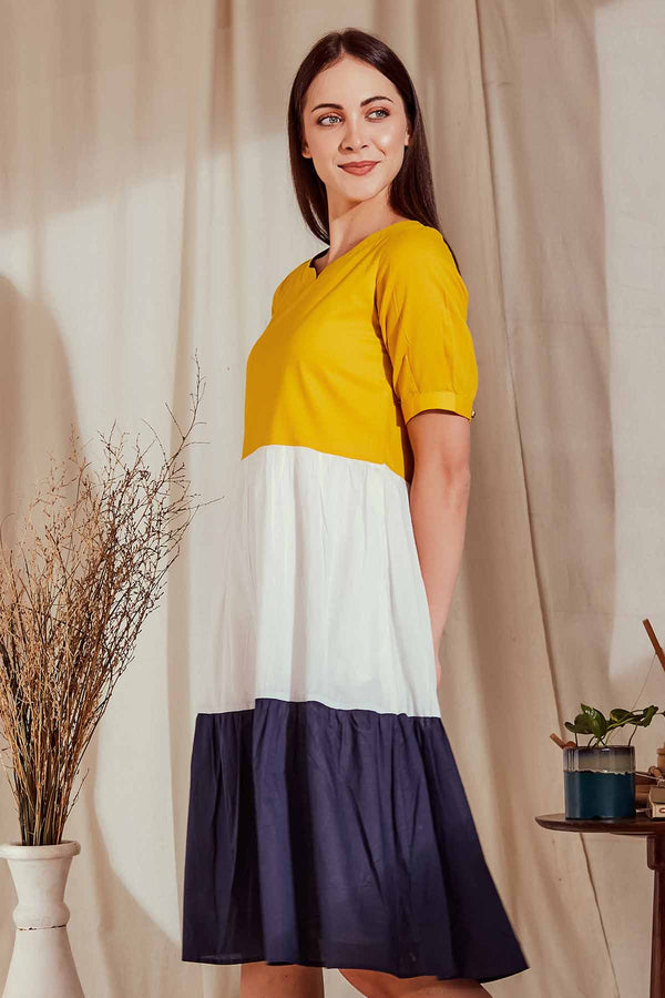 The Nery's Yellow Women Dress - Yellwithus