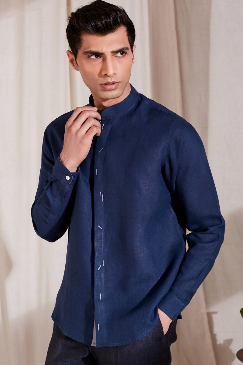 The Okan Shirt - Blue Color | Yellwithus.com