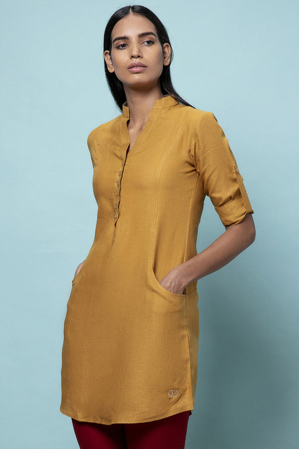 Frosted Linen Dress - Tuscany Natural - Yellwithus.com