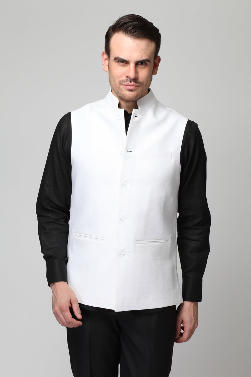 Vintage Men's Nehru Jacket-Yellwithus.com