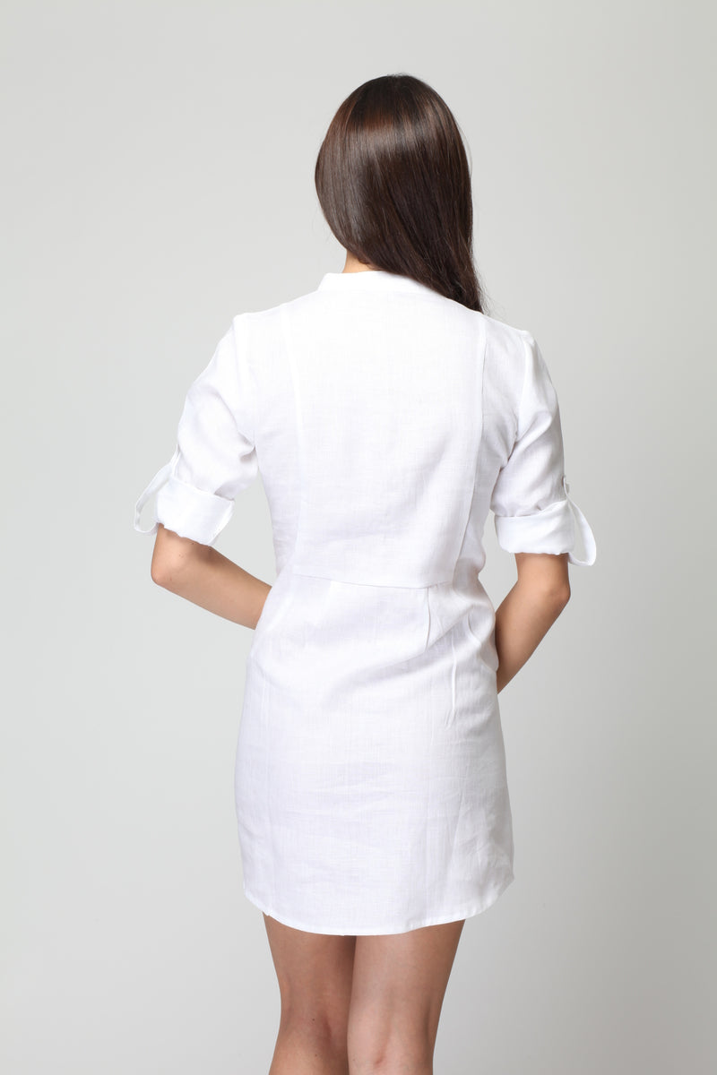 Frosted Linen Dress-Yellwithus.com