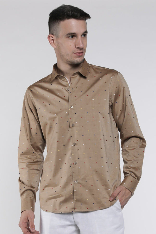 PinPrick Cotton Shirt-Yellwithus.com