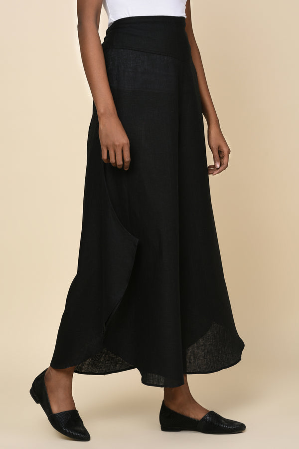 Flare it is! Jet Black Flared Trouser for Women - Yellwithus.com