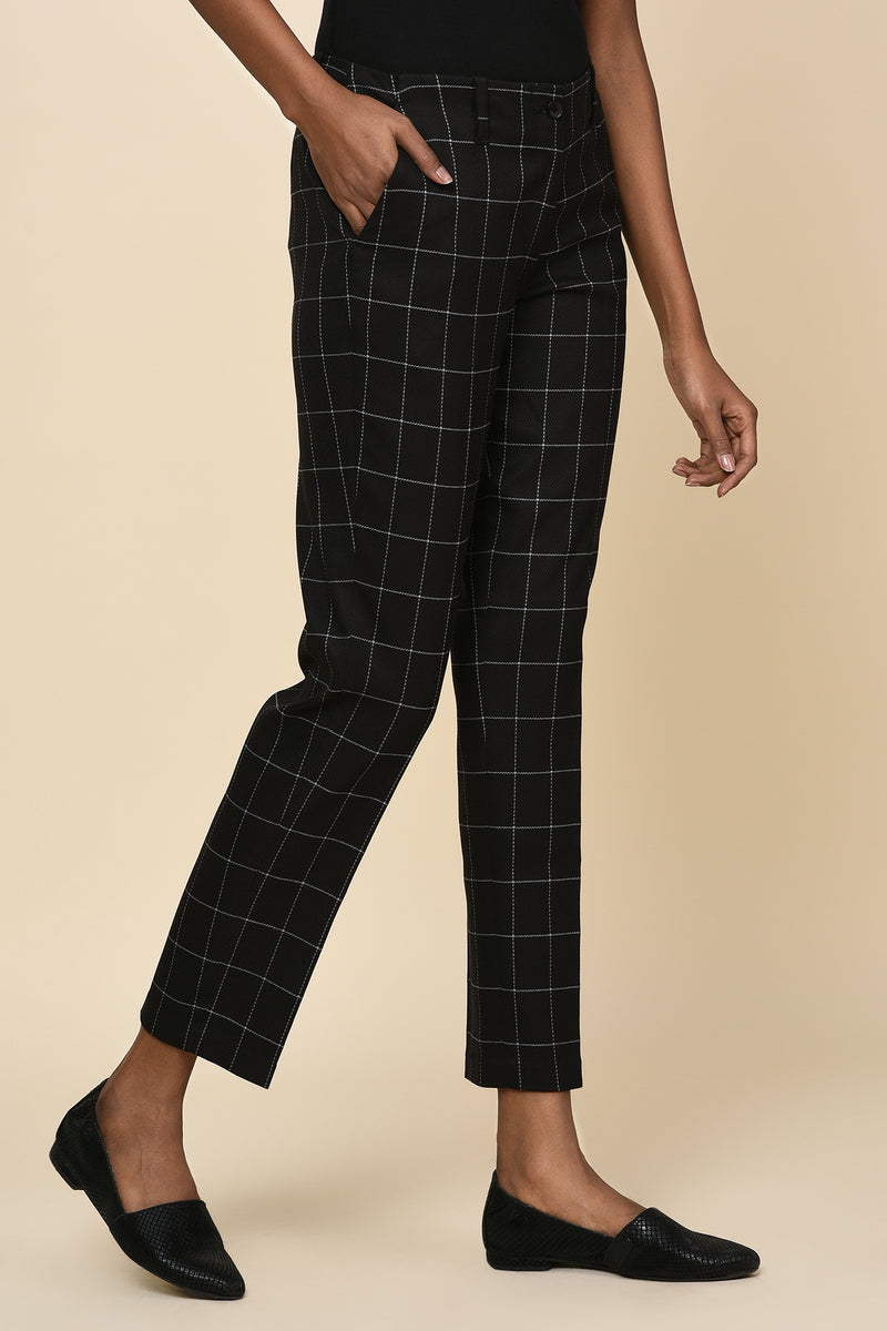 Stand Out Grid Trousers-Yellwithus.com