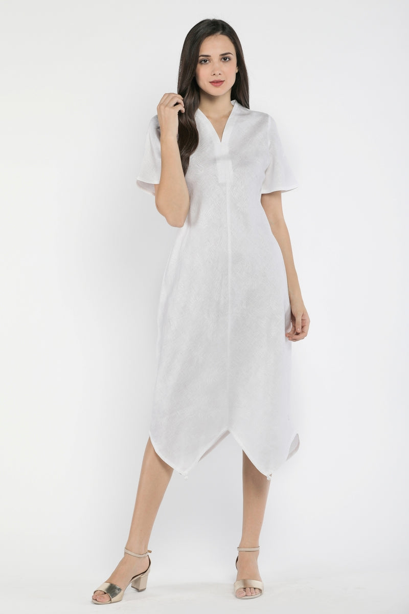 Frosted Tassels Hem Dress-Yellwithus.com