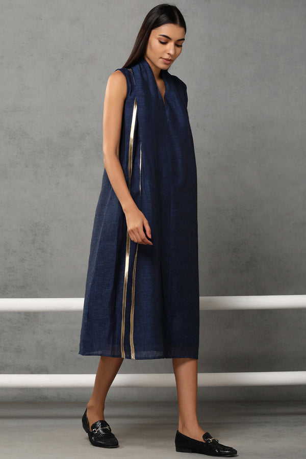 The Wera: Dark Blue Loom Women's Dress - Yellwithus.com
