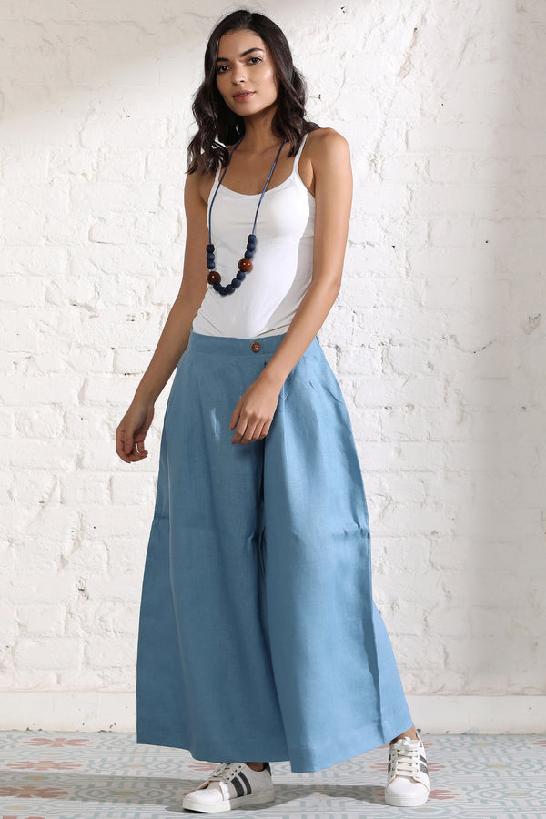 The Louella Blue Ladies Trousers-Yellwithus.com