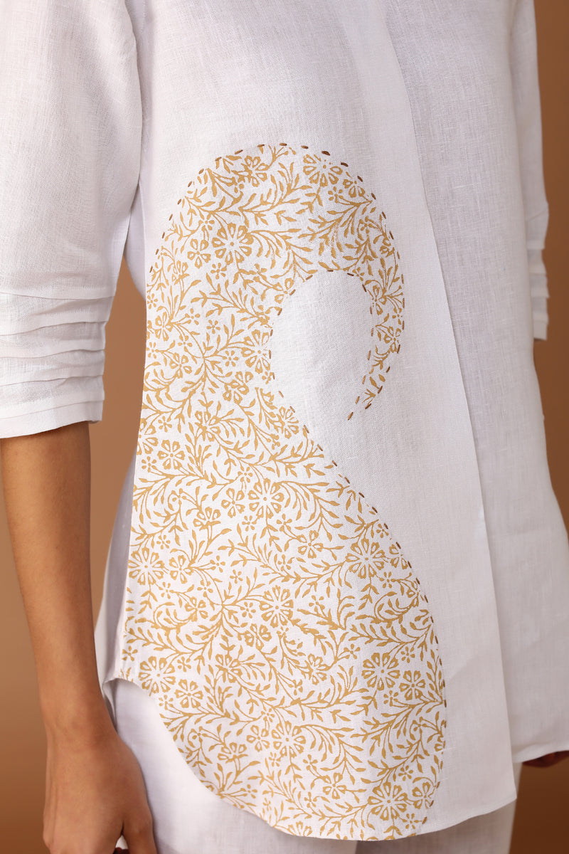 The Placid Paisley Top-Yellwithus.com