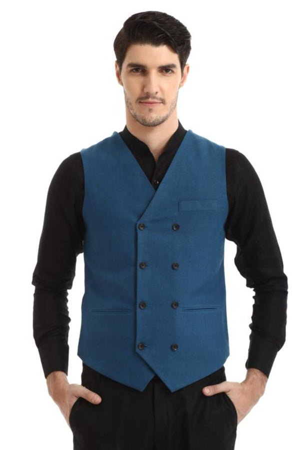 Double Breasted Waistcoat-Yellwithus.com