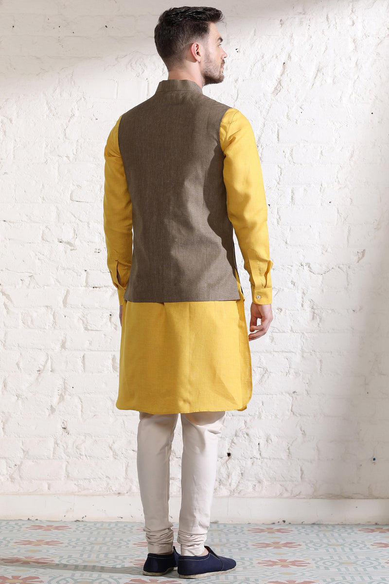 The Twist Nehru Jacket-Yellwithus.com