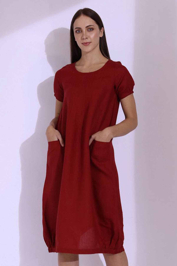 The Kalila Maroon Dress - Yellwithus.com