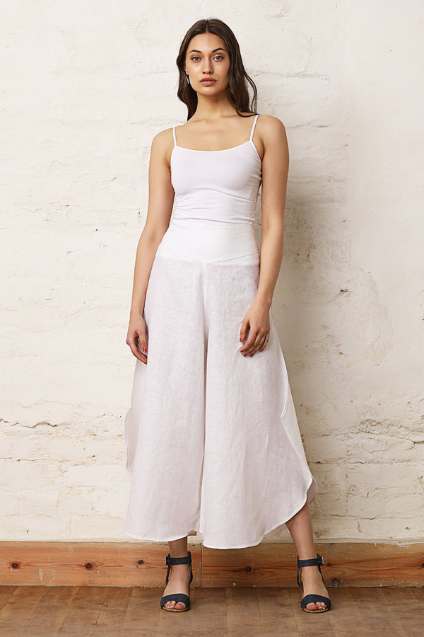 Daisy White Flare Trousers For Women - Yellwithus.com
