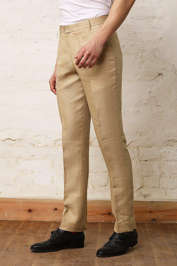 Extended Closure Button Trousers-Yellwithus.com