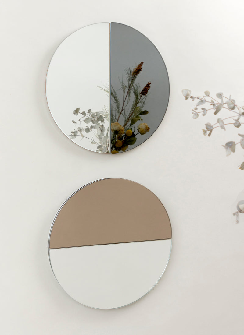 THE REAL PILL mirror in bronze+gray