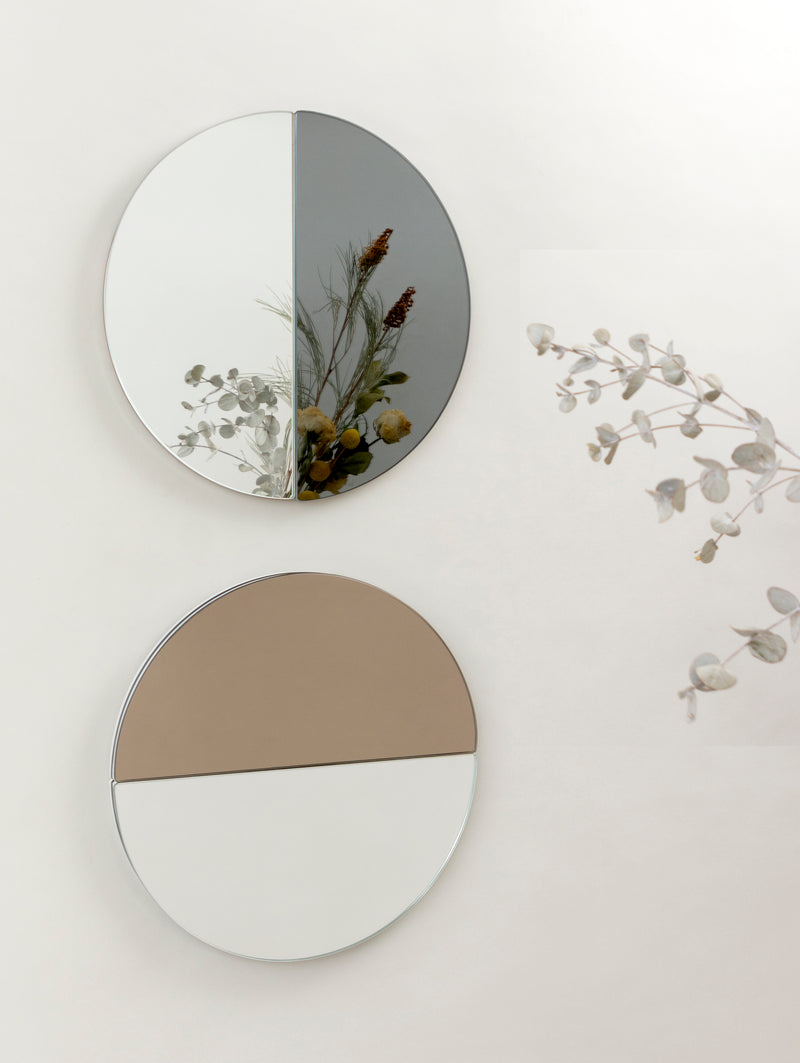 THE REAL PILL mirror in natural+grey