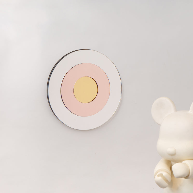 TARGET small - silver+pink+gold