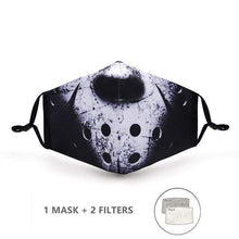 Load image into Gallery viewer, Skulls Design Face Mask with Replaceable PM 2.5 Charcoal Filter - Look At My Mask!