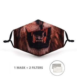Skulls Design Face Mask with Replaceable PM 2.5 Charcoal Filter