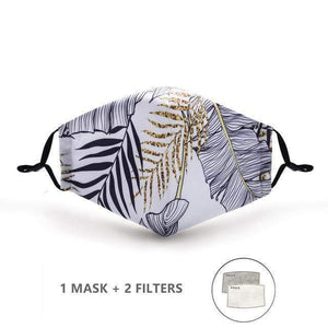 White Tiger Stripes Face Mask with Replaceable PM 2.5 Charcoal Filter