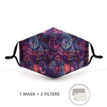 Load image into Gallery viewer, Flower Power Face Mask with Replaceable PM 2.5 Charcoal Filter