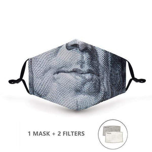 Snakeskin Face Mask with Replaceable PM 2.5 Charcoal Filter