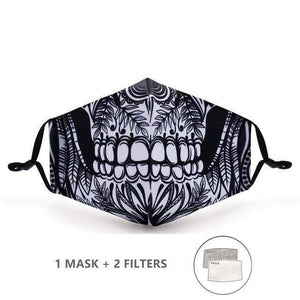 Paisley Face Mask with Replaceable PM 2.5 Charcoal Filter