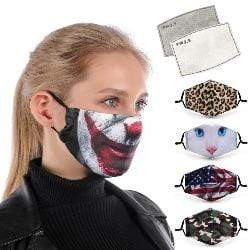 'Take Me To The Jungle' Face Mask with Replaceable PM 2.5 Charcoal Filter