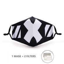 Load image into Gallery viewer, White Tiger Stripes Face Mask with Replaceable PM 2.5 Charcoal Filter