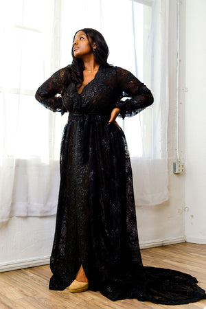 Lilith Lace Gown (Black)