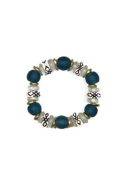 Intricate Deep Blue Stack Bracelet
