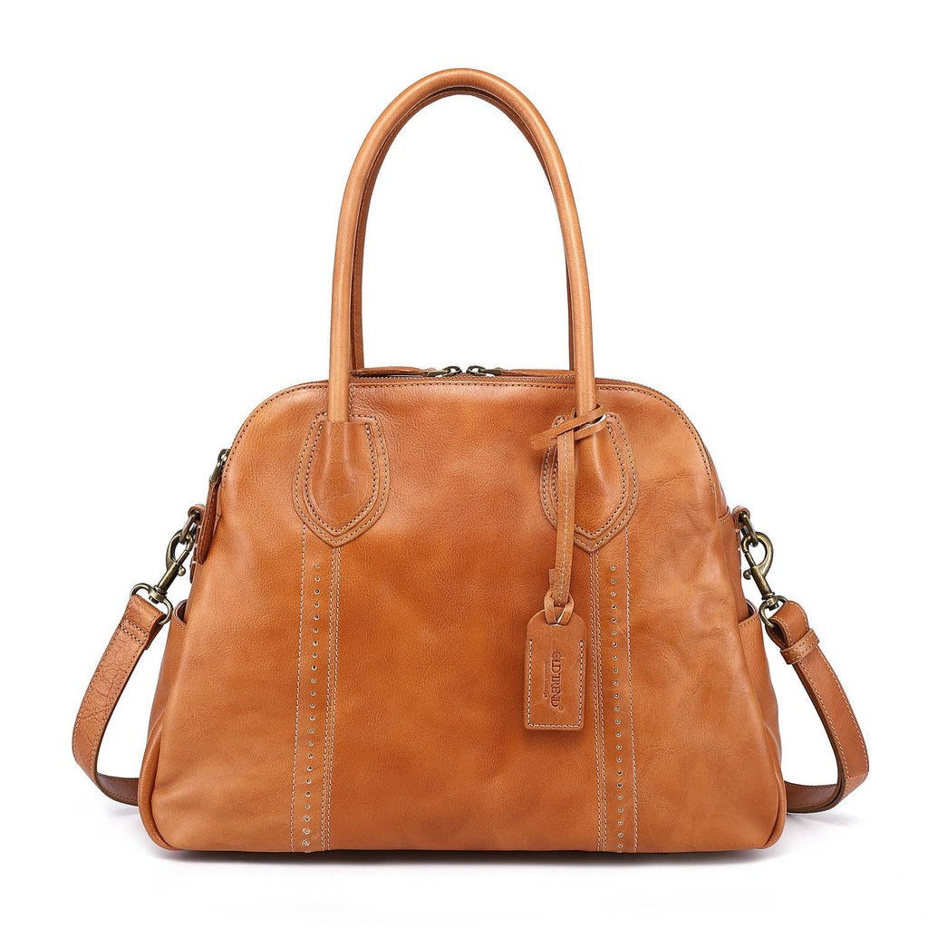Vintage Leather Hobo - Camel