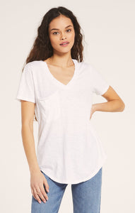 Slouch Pocket Tee - White
