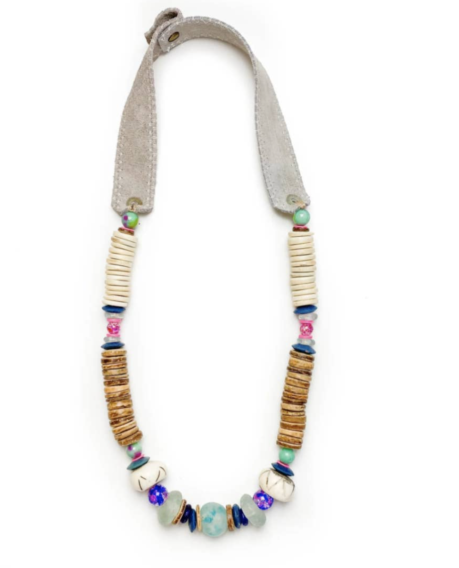 Stacked Classic Necklace Tie Dye by Twine & Twig