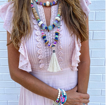 Load image into Gallery viewer, Stacked Classic Necklace Tie Dye by Twine & Twig