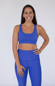 Bold Body Performance Sports Bra in Periwinkle Blue