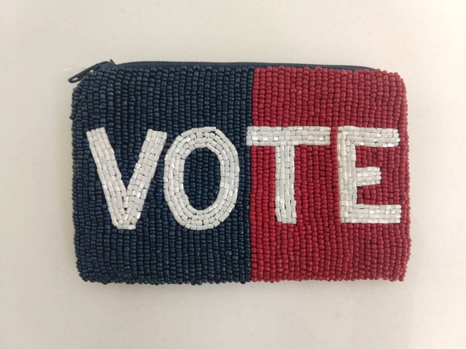 Beaded Vote Coin Purse