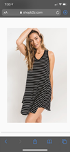 Load image into Gallery viewer, Yuma Striped Linen Breezy Dress