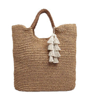 Load image into Gallery viewer, Woven Straw Tote