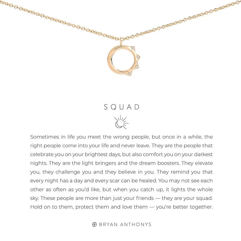 Squad Necklace - 14k Gold