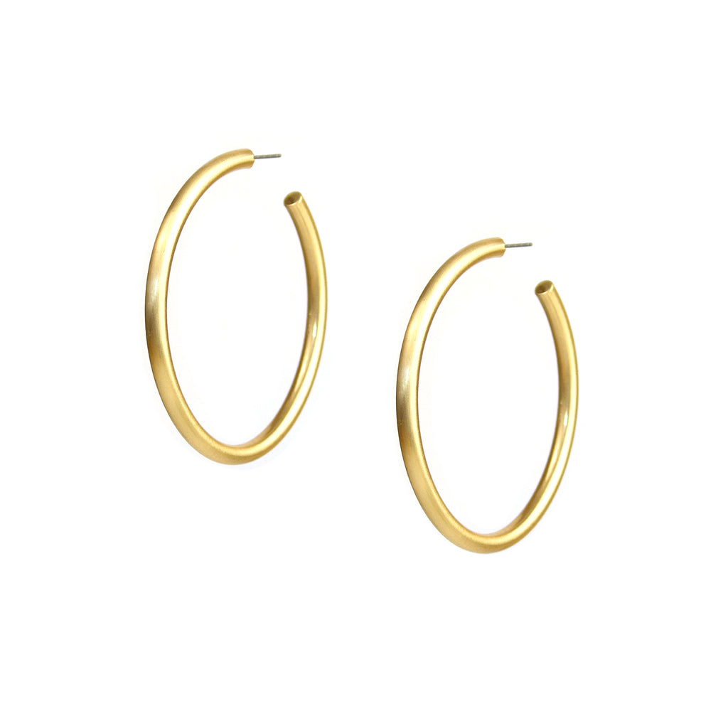 Satin Finish Large Hallow Hoops