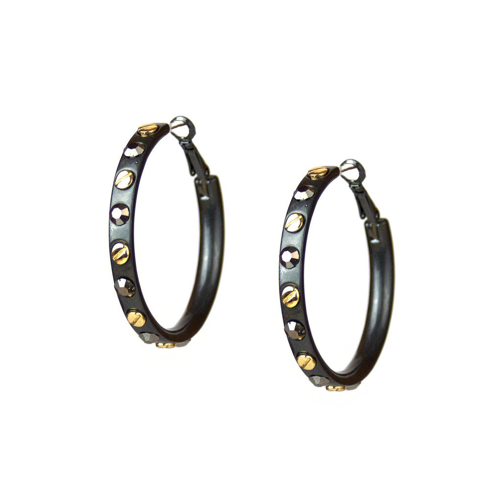 Metal Nailhead Hoops