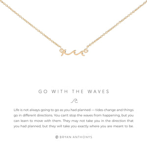 Go With The Waves - 14k Gold
